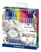 Staedtler 334C36JB Triplus Color Fineliner  set 36 kleuren