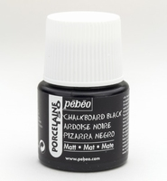 Pebeo porseleinverf: 201 Chalkboard Black matt flacon 45ml