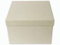 Papier mache doos; 211929-2931 Vierkante kartonnen doos 26,5x26,5x19cm
