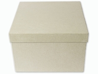 Papier mache/karton doos;KP211929-2931 Vierkant