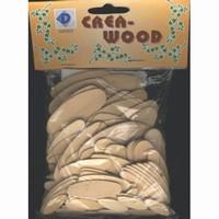 Creawood; Woodsies 135 stuks ovaal 95201479DH