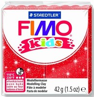 Fimo Kids 8030-212 Glitter Rood