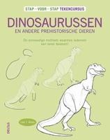 BOEK: Stap voor Stap Dinosaurussen tekenen isbn.9044738216 paperback A4