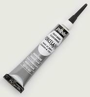 Pebeo porseleinverf contour: 36.013 Shimmer Silver NIEUW tube 20 ml