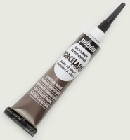 Pebeo porseleinverf contour: 36.012 Shimmer Chocolate NIEUW tube 20 ml