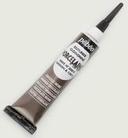 Pebeo porseleinverf contour: 36.012 Shimmer Chocolate NIEUW