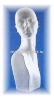 Styropor buste omkijkende vrouw 55 cm