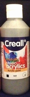 Creall Studio acryllics metallic Lead 24/250ml 250ml fles