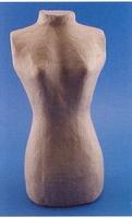 Papier mache TORSO vrouw 30cm 16711-083/QXM140