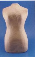 Papier mache TORSO vrouw 45cm 16711-082/QXM141