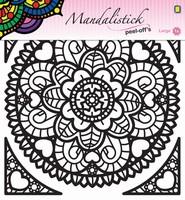 Mandalistick Peel off sticker JEJE 39242 nr.1 zwart 19cm doorsnede