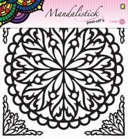 Mandalistick Peel off sticker JEJE 39247 nr.2 zwart 19cm doorsnede
