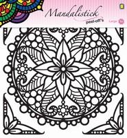 Mandalistick Peel off sticker JEJE 39252 nr.3 zwart 19cm doorsnede
