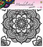 Mandalistick Peel off sticker JEJE 39257 nr.4 zwart 19cm doorsnede
