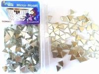 Hobby Time Spiegel mozaiek zilver (glas) driehoekjes 6248002 100gr./ca.520st