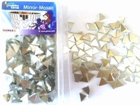 Hobby Time Spiegel mozaiek zilver (glas) driehoekjes 6248002