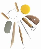 Boetseergereedschap: Modelleer set  XVL020/KP154-152 set 8-tools