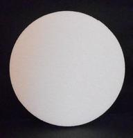 Styropor taartdummie/schijf rond 25cm doorsnede dikte 2cm