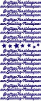 Stickervel F&F 512 Prettige Kerstdagen/Gel.Nieuwjaar ZILVER