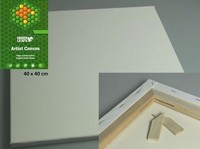 Canvas doek Green Leafs 40x40x1,7cm