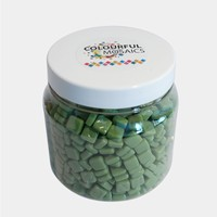 Glasmozaiek Colourful Squares grootverp. Groen 1012163 500gram