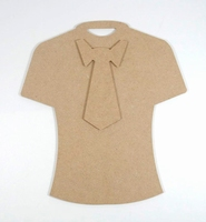 Joycrafts 6200-0171 MDF T-shirt met stropdas 19,5cm