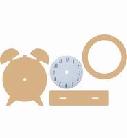Dutch Doobadoo 460.440.240 MDF Clock / Wekker 4 delig 19,5cm