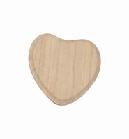Houten hart paneeltje circa 13cm art. 8160 13x12cm