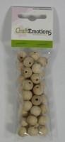 Houten kralen naturel beuken 12mm ca. 35 stuks 810100-0012