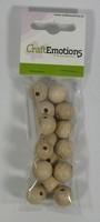 Houten kralen naturel beuken 15mm ca. 15 stuks 810100-0015