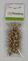 Houten kralen naturel beuken  8mm ca. 100 stuks 810100-0008