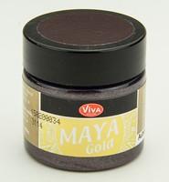 Viva Decor Maya Gold 1232.502.34 Aubergine