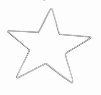 Metalen draadvorm Ster 15cm Knorr Prandell 21-67852-39