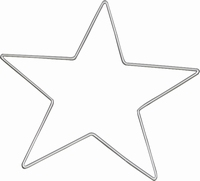 Metalen draadvorm Ster 25cm Knorr Prandell 21-67852-55