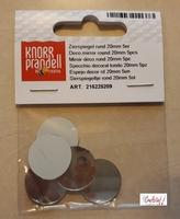 Deco spiegeltjes Zilver 218022078 Knorr Prandell 1,8cm/48stuks