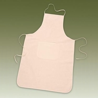 Katoenen schort met zak, volw. ongebleekt KP212305306 60x90cm