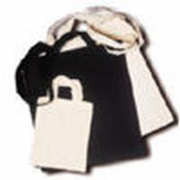 Katoenen tas 38 x 42 cm zwart lange schouderbanden art. 4092