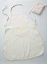 Katoenen kinderschort met zak, ongebleekte katoen 500050.210 4-6 jaar43x55cm
