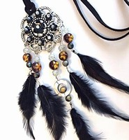 H&C Fun 12415-0042 Dream Catcher sieraad set  Black complete set