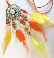 H&C Fun 12415-0046 Dream Catcher sieraad set Orange-Yellow complete set