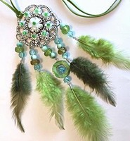 H&C Fun 12415-0047 Dream Catcher sieraad set Green