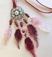 H&C Fun 12415-0048 Dream Catcher sieraad set Bordeaux complete set