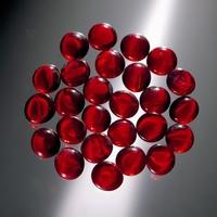Glorex Glasnuggets ca.20mm serie 686013-03 Rood circa 200gram