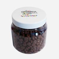 Glasmozaiek Colourful Dots 500gram 1012101 Bruin 500gram
