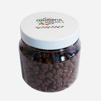 Glasmozaiek Colourful Dots 500gram 1012101 Bruin