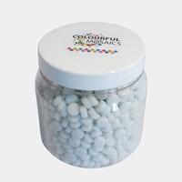 Glasmozaiek Colourful Dots 500gram 1012103 Wit 500gram