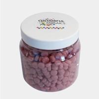 Glasmozaiek Colourful Dots 500gram 1012115 Roze