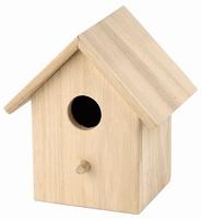 Houten vogelhuisje met 1 vliegopening 8138/190105