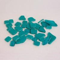 Glasmozaiek Soft glas glitter 1017492 polygonaal Turquoise