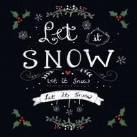 Servetten Ambiente 111330_5165 Let it snow 33x33cm/5stuks